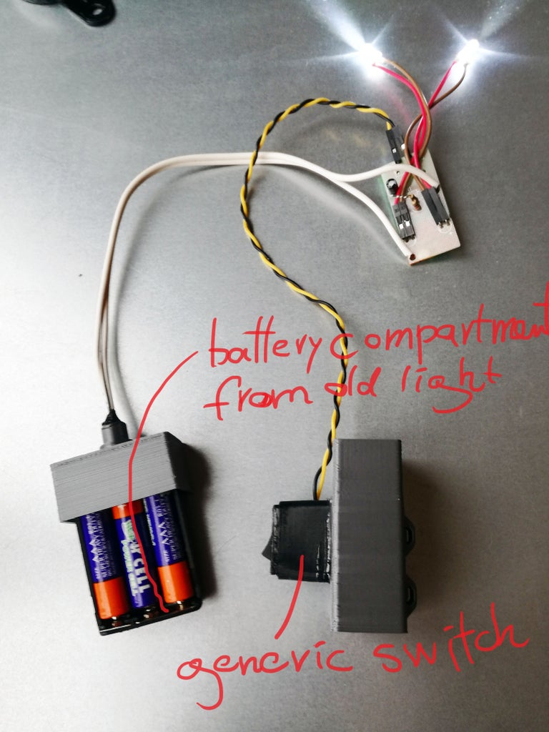 Harvesting Parts From Old Generic Bicycle Light and Modifying Electronics