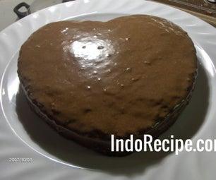 Simple Chocolate Heart Cake