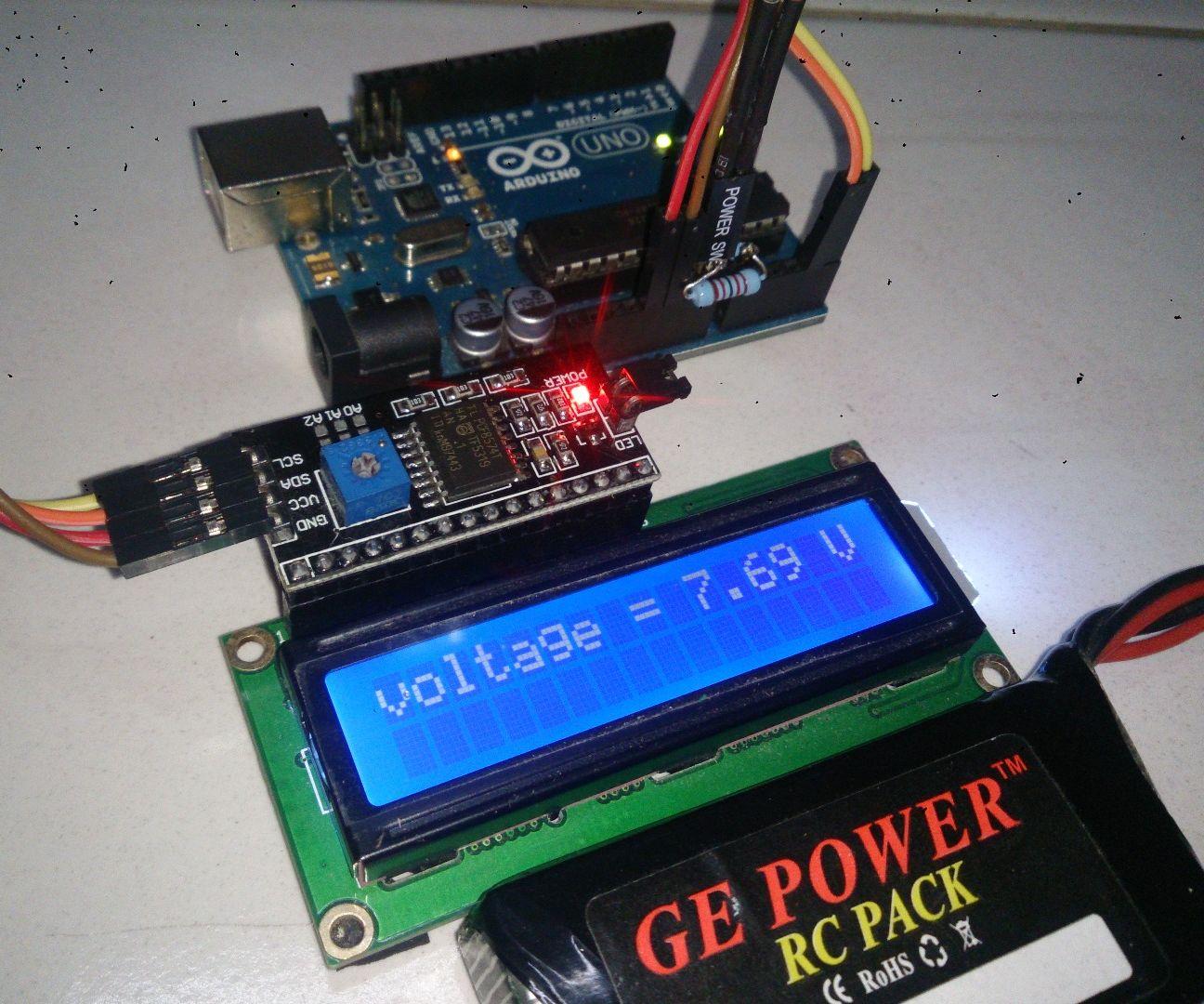 Arduino Battery Voltage Indicator