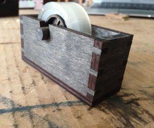 Wooden Laser Cut Tape Dispenser