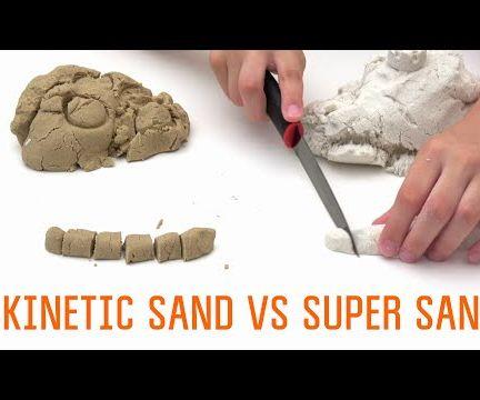 How to make Kinetic Sand | Super Sand vs Homemade Kinetic Sand