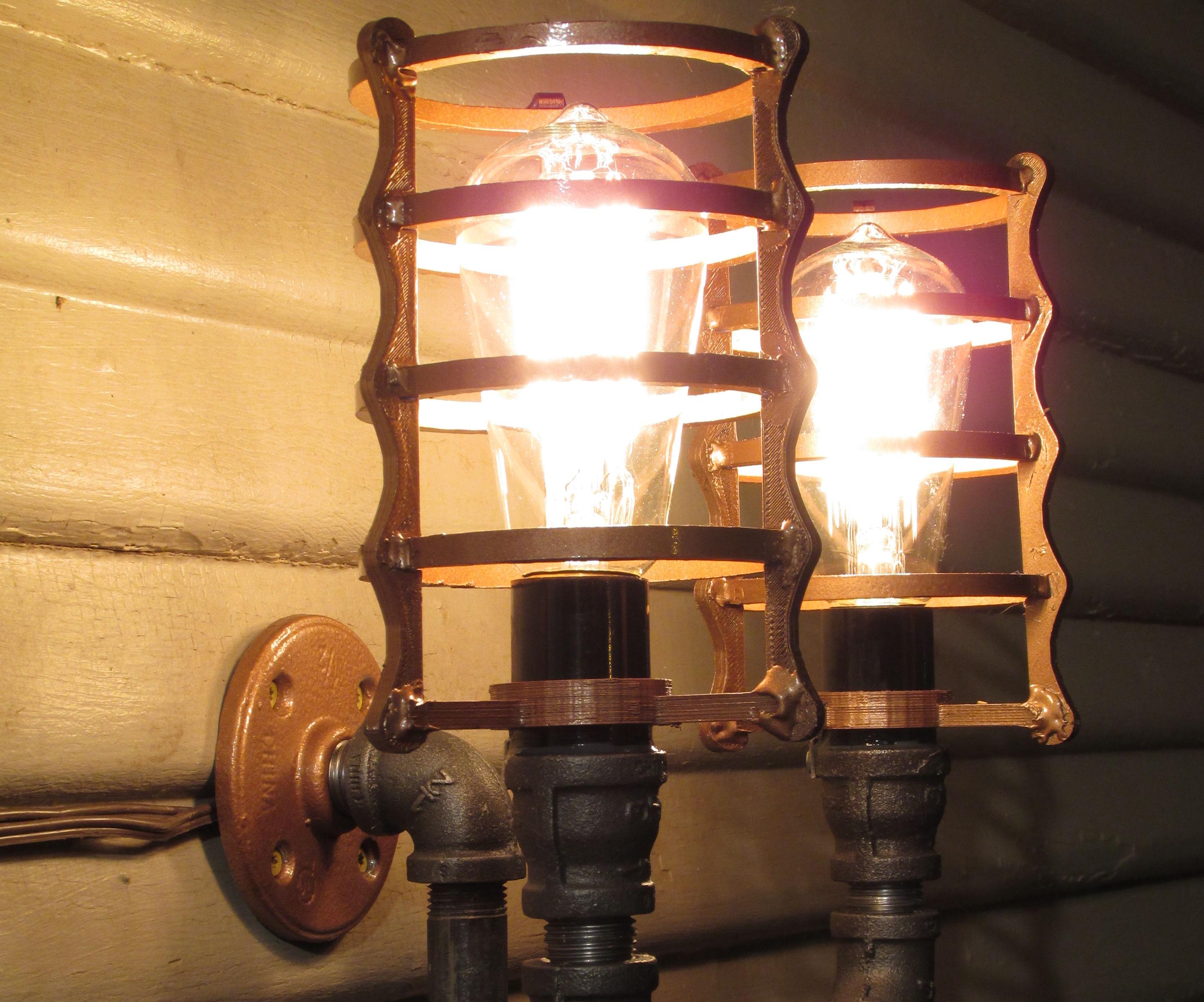 Steampunk Porch Light