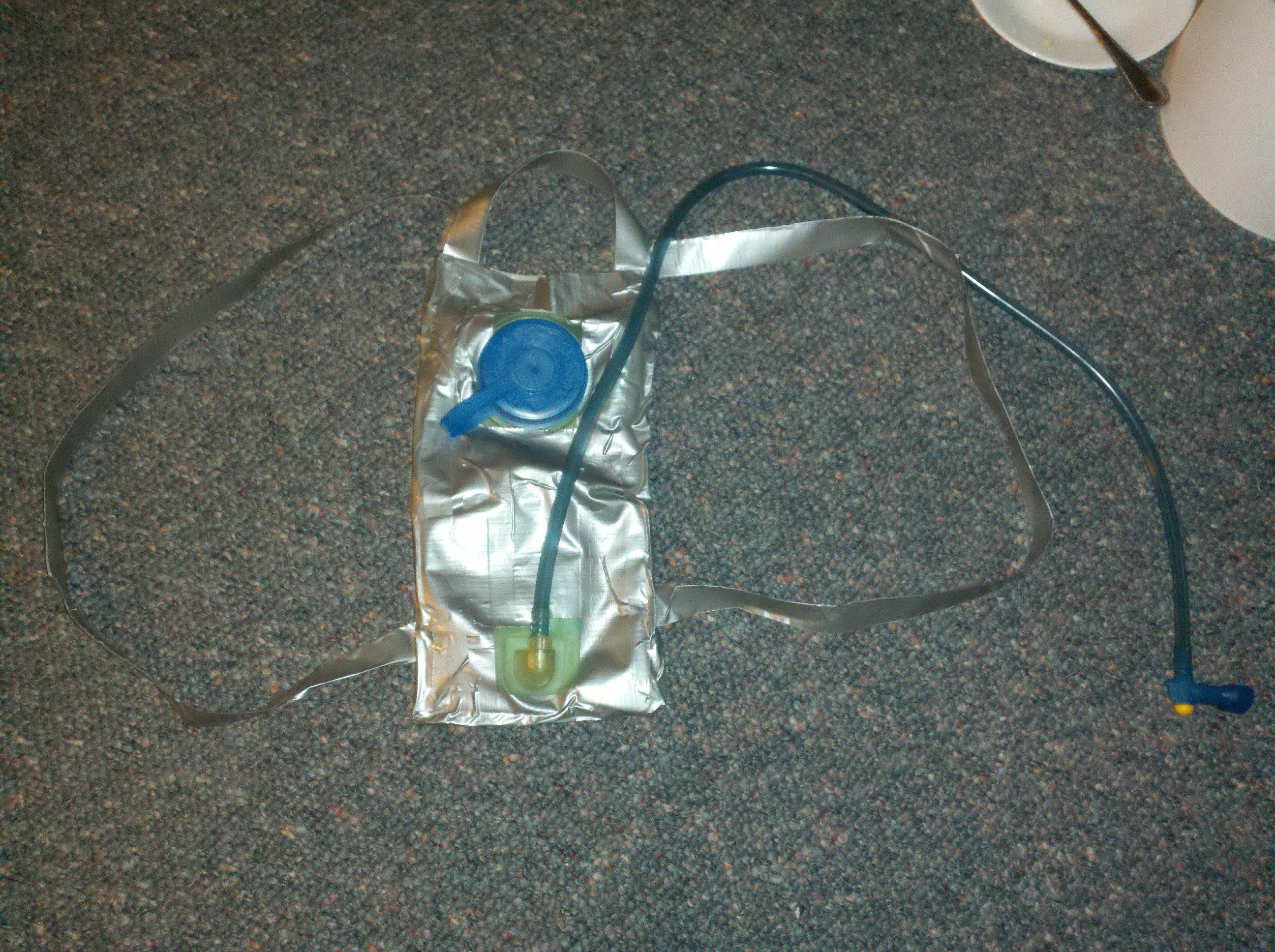 Duct Tape Hydration pack on the cheap!