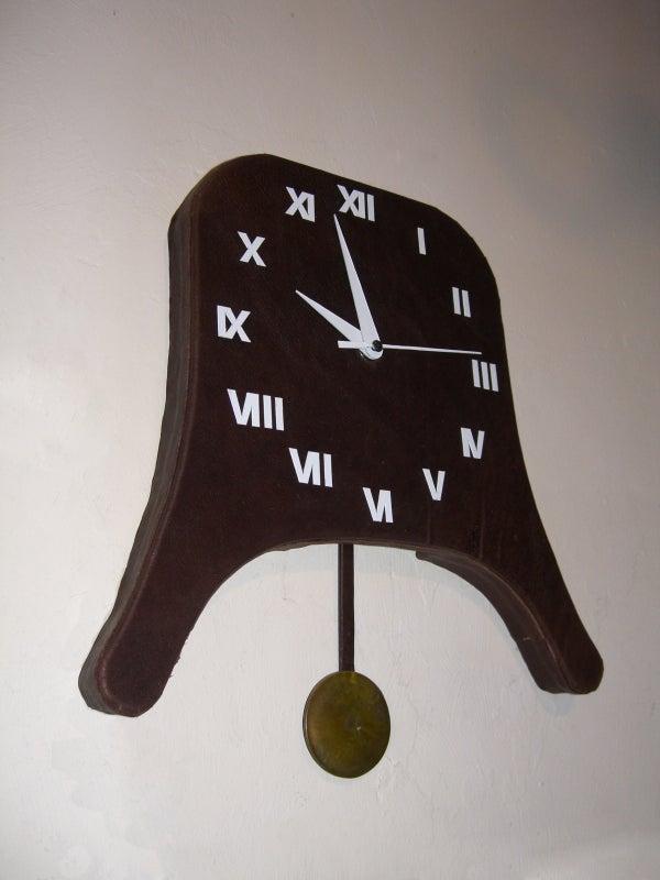 Leather Covered Pendulum Clock