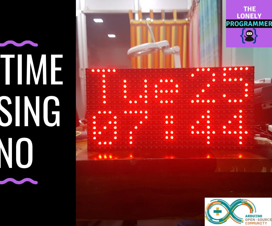 Big Real Time Clock Using Arduino