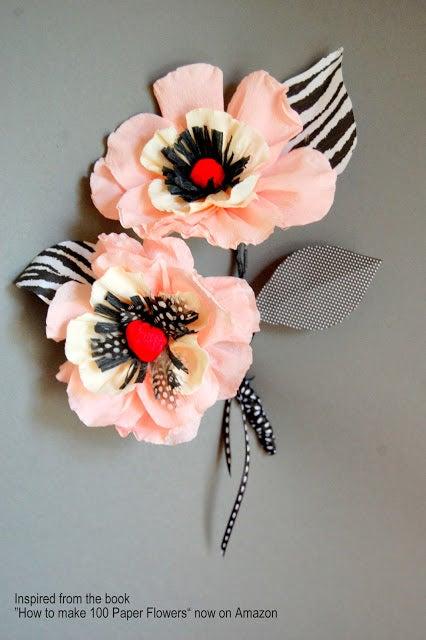 Whimsical Paper Poppy Flower