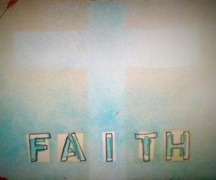 Snow Effect Using Spray-Paint FAITH