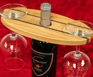 How to Make a Wine Bottle and Glass Display