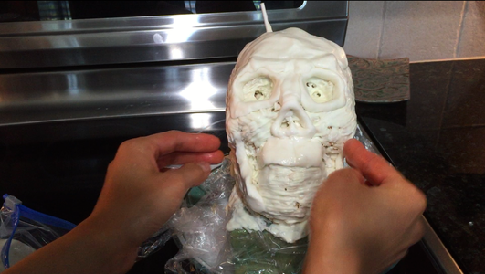 Allow the Chocolate to Harden in the Fridge, Then Add Detail to the Skull With Gum Paste