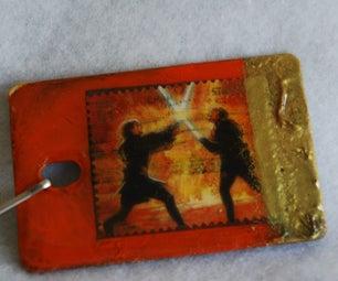 Make Zipper Pulls From Sample Chips