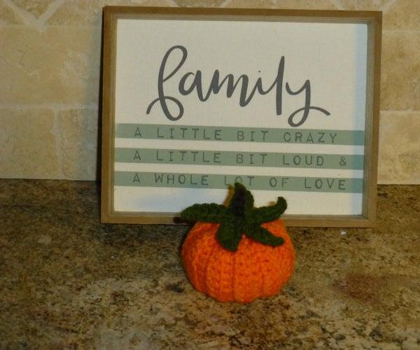 Crochet Pumpkin Turns Into a Pumpkin Pie