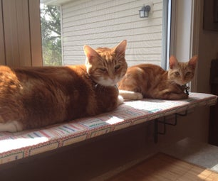 Easy Window Shelf for Cats and Other Light Uses Like a Garden.