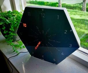 'Round' Word Clock (in Dutch & English!)
