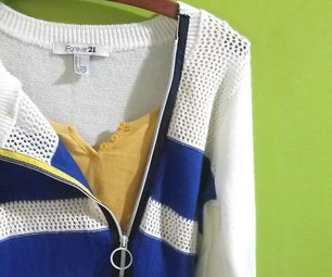 Zipper Sweater Transformation