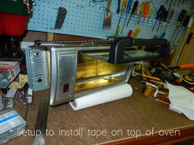 Install the Space Age Reflecting Insulation Tape