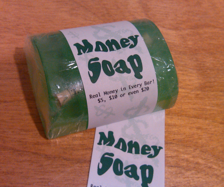 Stocking stuffer gift: Money soap