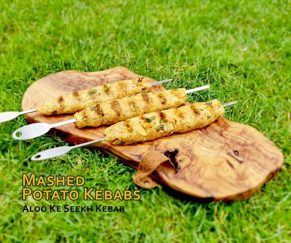 Mashed Potato Kebabs - Aloo Ke Seekh Kebab