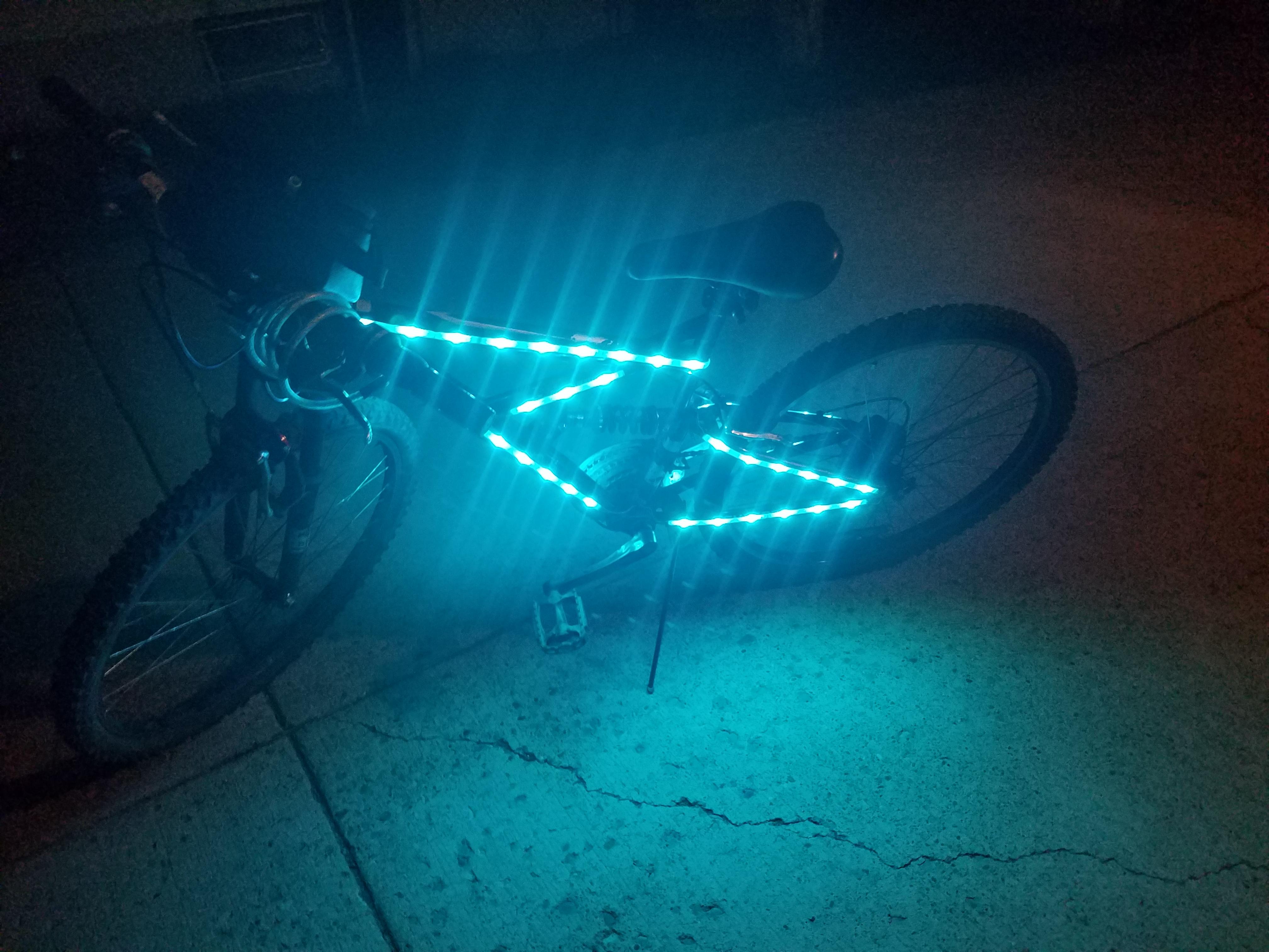 RGB LED Bike Frame Lighting Mod