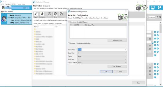 Configure the Correct COM Port