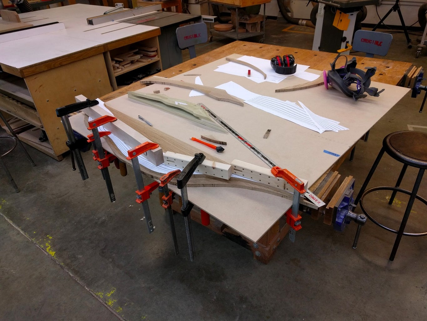 Cutting Layers and Glue-up