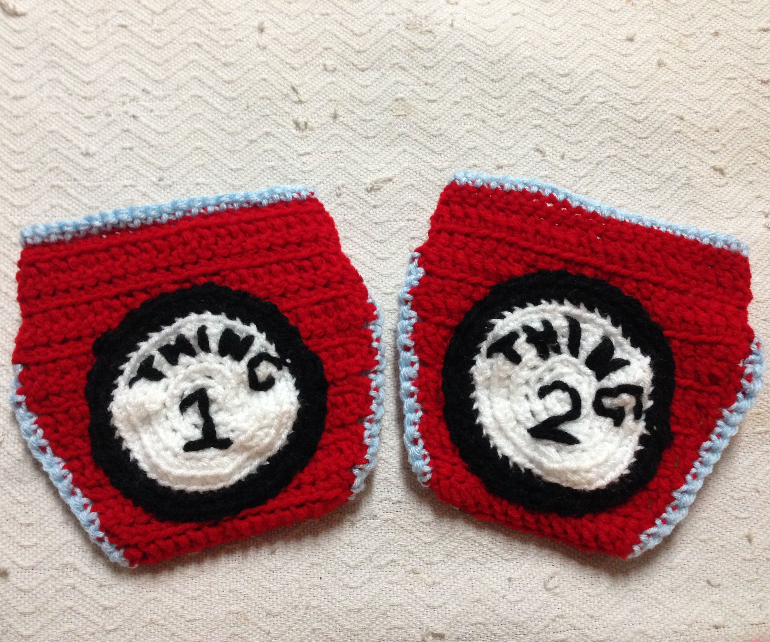Dr Suess Thing 1 & Thing 2 Diaper Covers