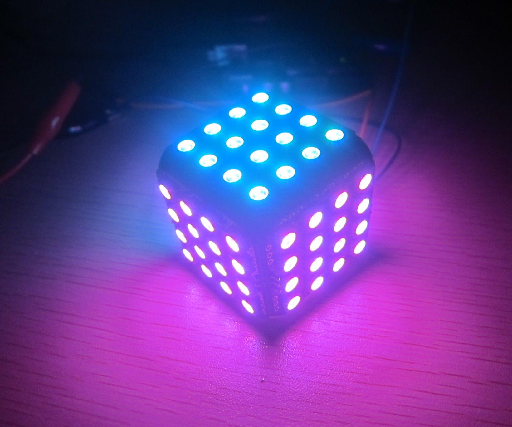 WS2812B LED Cube 96 for arduino magic colorful