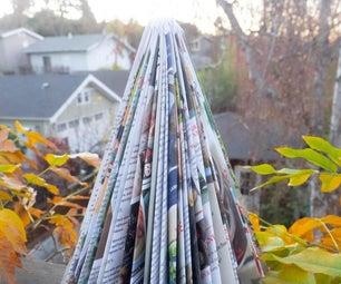 Simple Magazine Christmas Tree