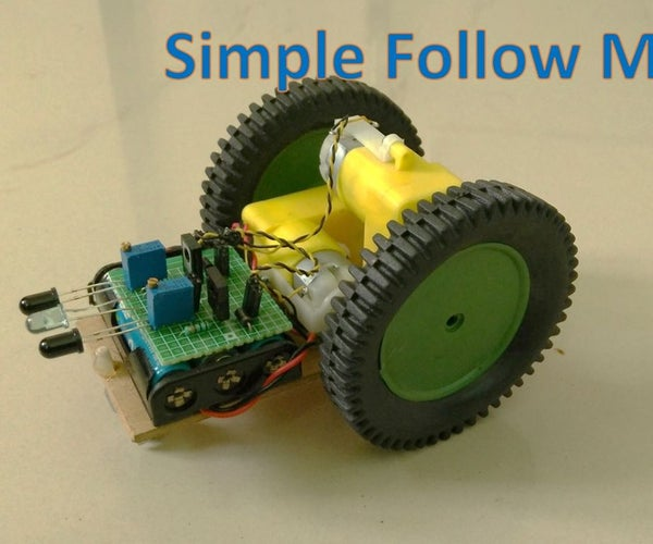A Follow Me Robot With Simple Circuit