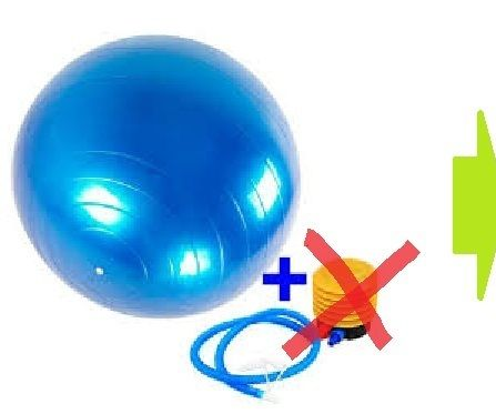 How: Inflate Gym-ball With Bike-pump