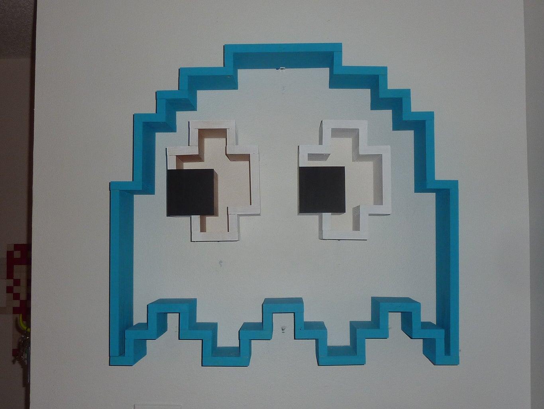 Floating PacMan Ghost Shelf (Inky!)