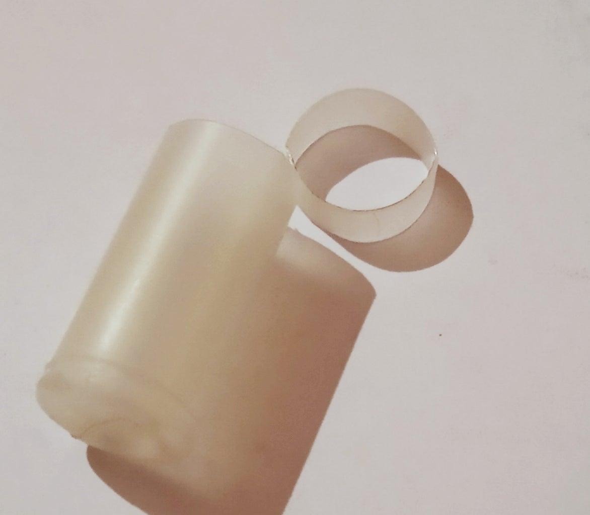 Making Rings Using Glue Bottel.