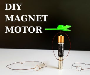 How to Make a Motor From Neodymium Magnets