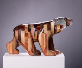 Carving a Bear of Out Epoxy and Wood