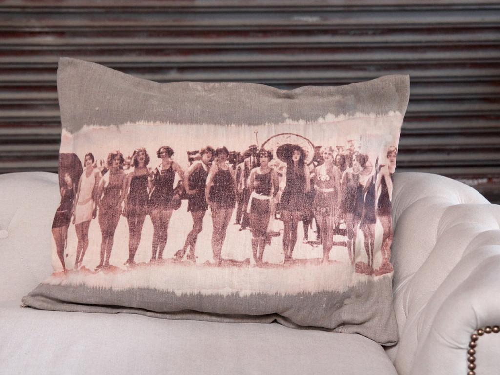 Bleach and Print Pillows