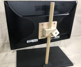 Wooden Adjustable Height Monitor Stand