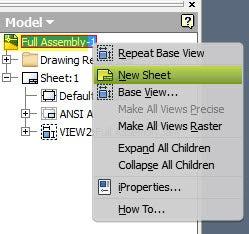 Create a New Sheet