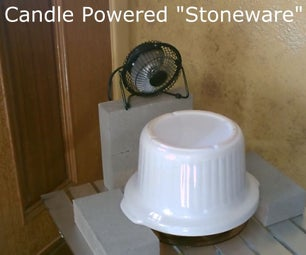 Candle Powered (Stoneware) Air Heater! -w/fan! - DIY Ceramic Space Heater! - 293F+