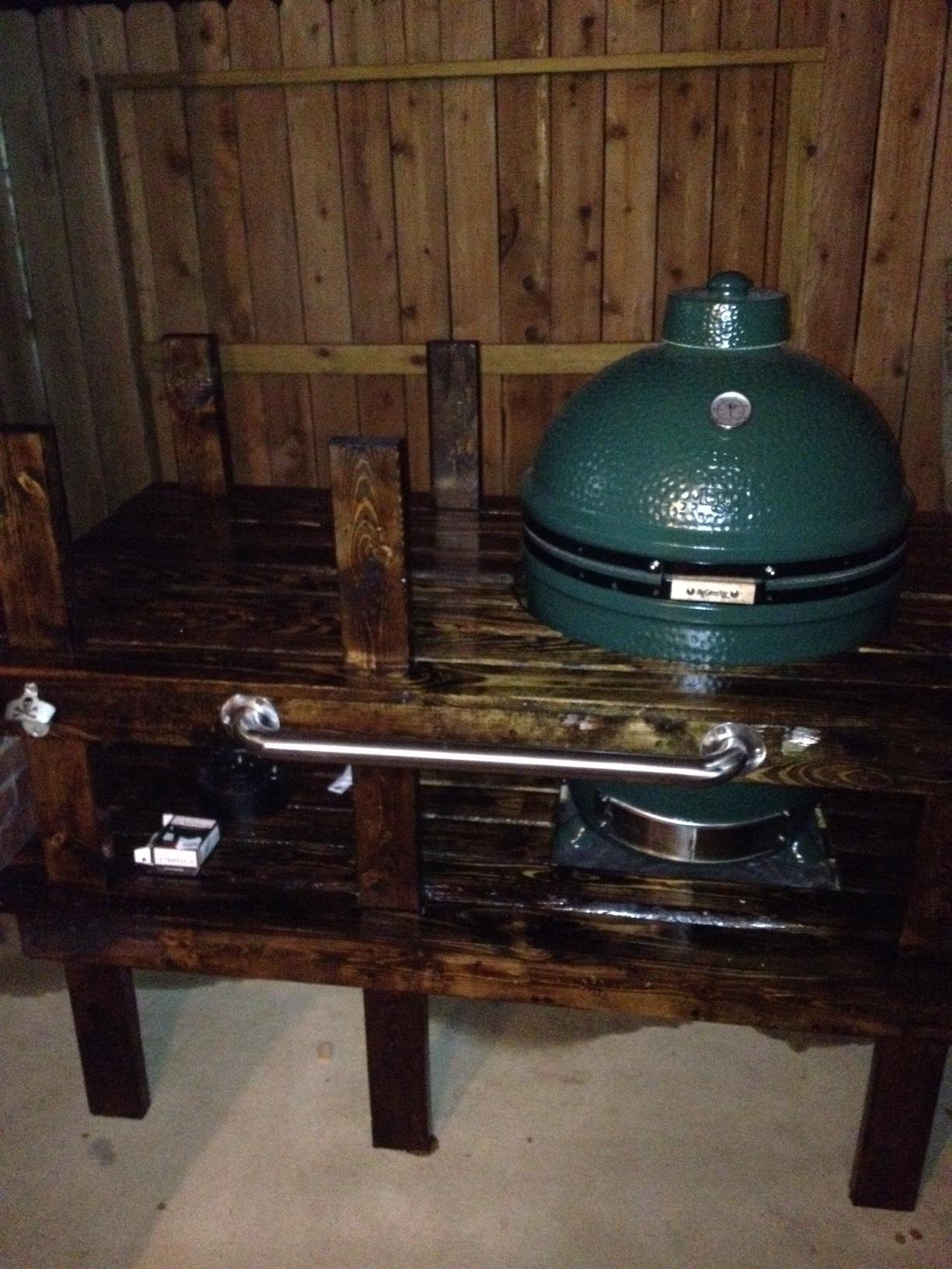 Big Green Egg BBQ Table