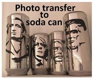 照片转移到汽水罐