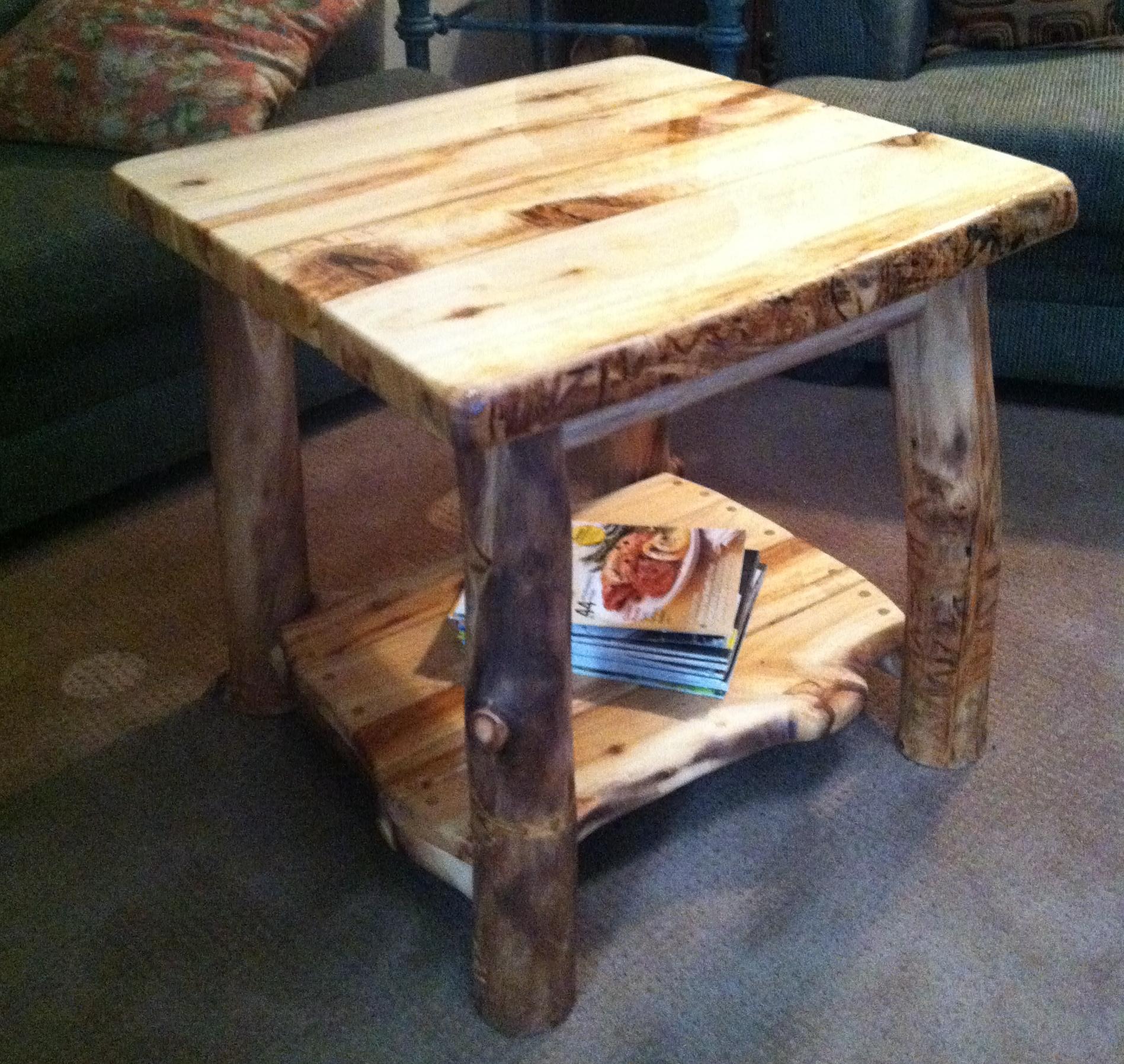 Make a Log Side Table