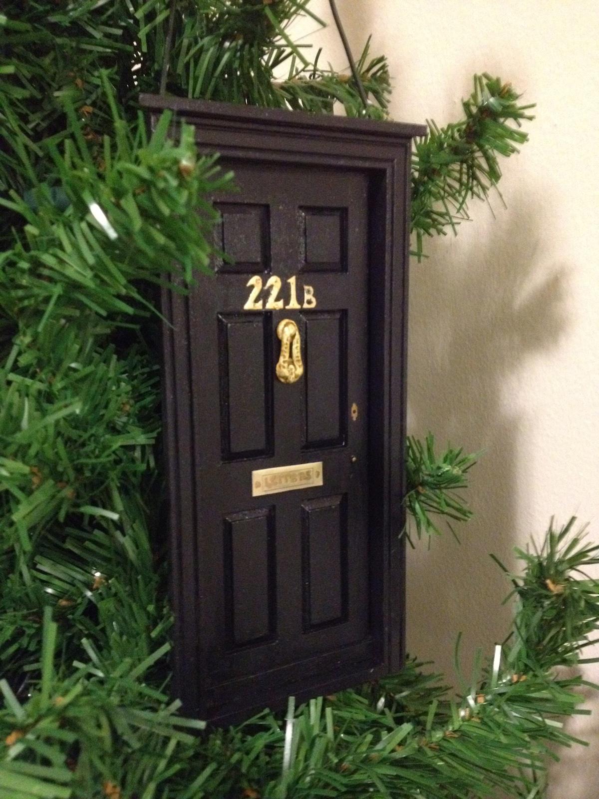 Make a 221B Baker Street Christmas Ornament (BBC Sherlock)