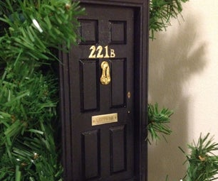 Make a 221B Baker Street Christmas Ornament (BBC Sherlock)