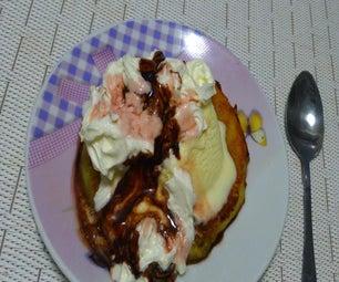 Fried Pineapple Ice Cream