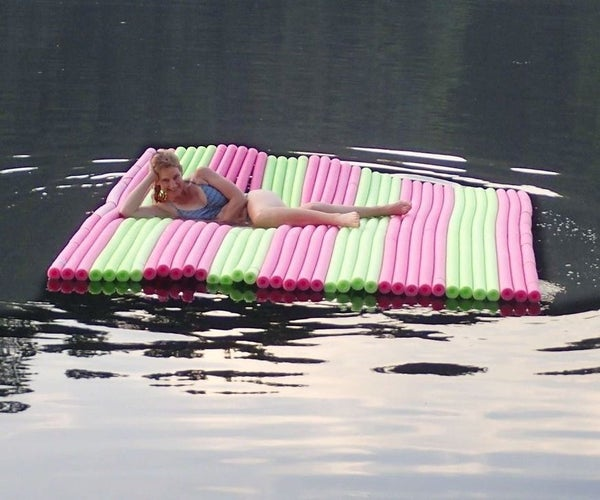 Floating Wet Lounger Water Pad/raft for 6, Under $100
