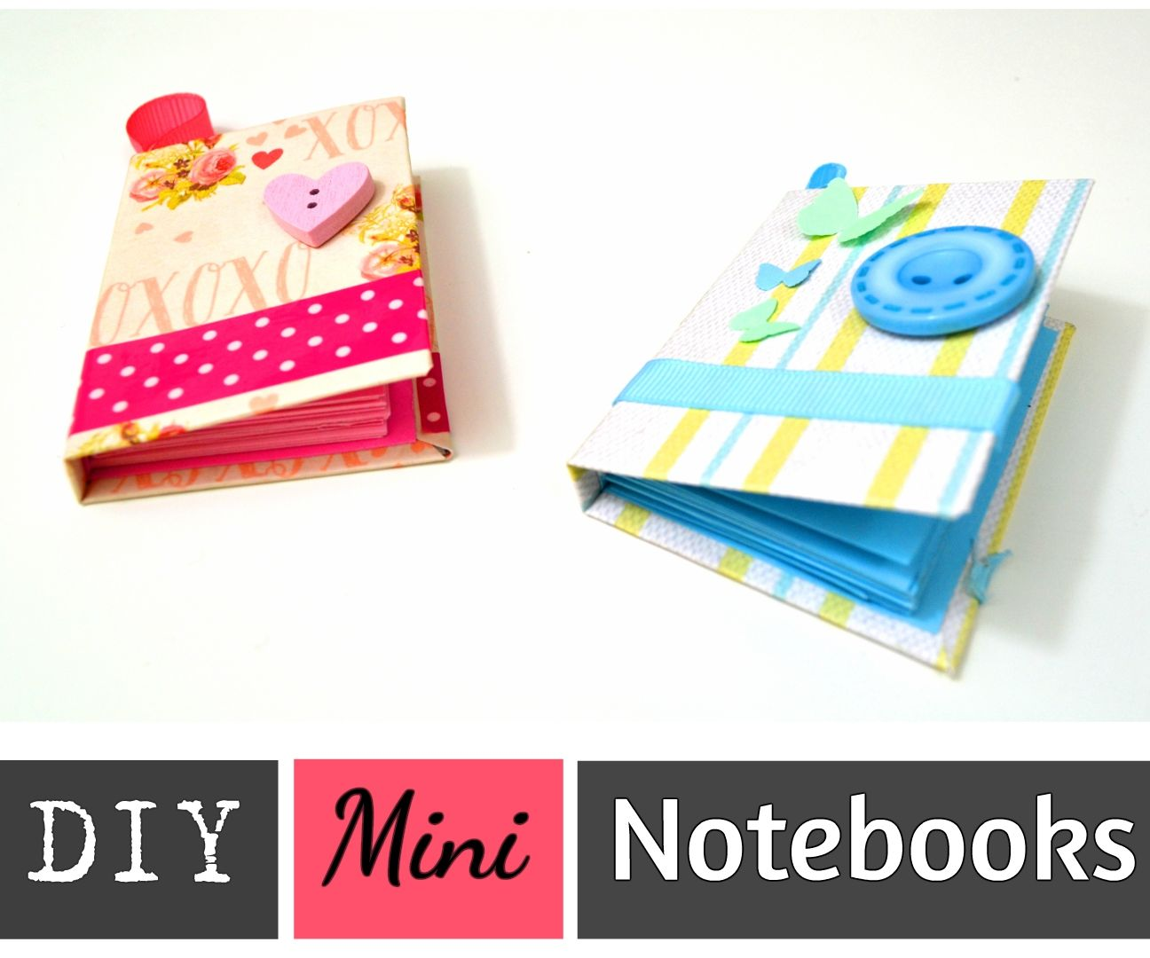 Make Your Own Mini Notebooks / POCKET - SIZED NOTEBOOKS WITH RECYCLED PAPER AND CARTOON - Best Out of Waste