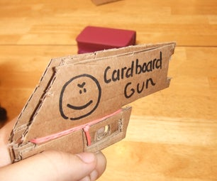 Thin Cardboard Rubber Band Gun