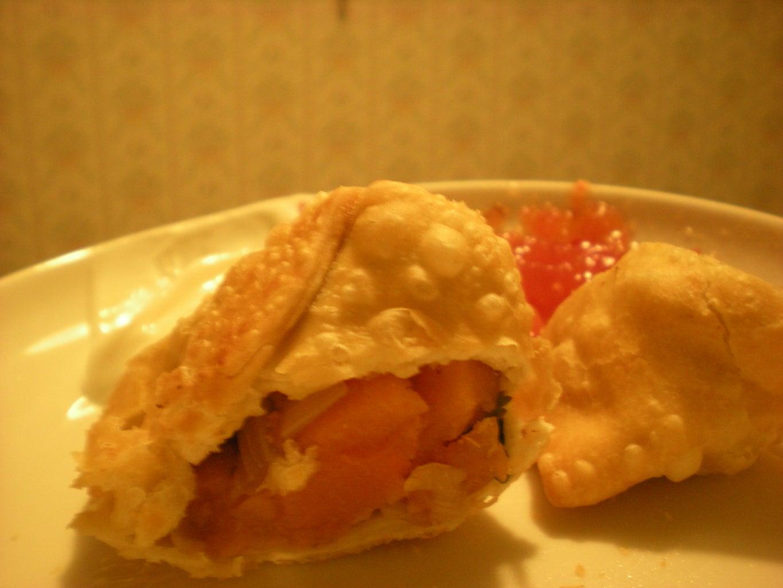 Fiery Pumpkin Samosas