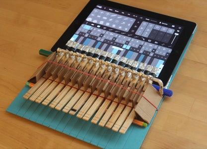 Clothespin Piano for IPad
