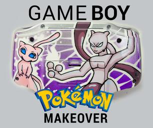 Custom Mewtwo & Mew Game Boy Advance (Spray Paint Mod)