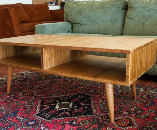 Mid-Century Modern Style Coffee Table Made With Plyboo (Bamboo Plywood)